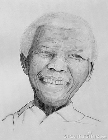 Nelson Mandela portrait Editorial Stock Image