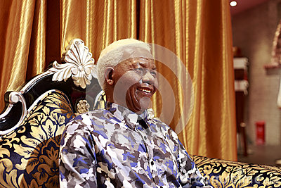 Nelson mandela s wax figure Editorial Photo