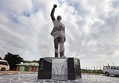 Nelson Mandela Statue Editorial Image