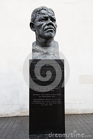 Nelson Mandela statue Editorial Stock Image