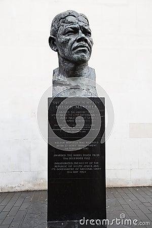 Nelson Mandela statue Editorial Stock Image