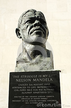 Nelson Mandela Statue Editorial Stock Photo