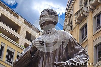 Nelson Mandela Statue in Johannesburg Editorial Image