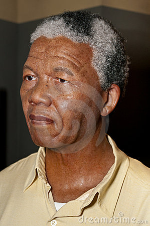 Nelson Mandela Wax Figure Editorial Stock Photo