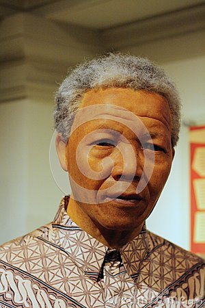 Nelson Mandela wax figure Editorial Photo
