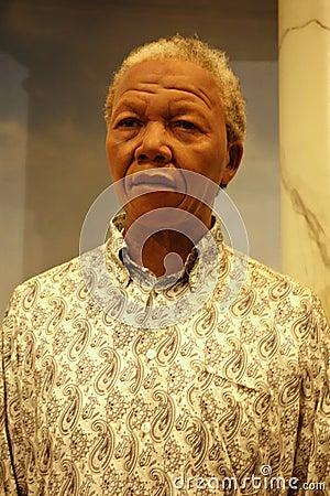 Nelson Mandela Wax Figure Editorial Image