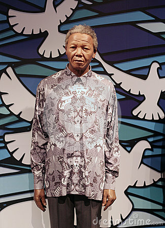 Nelson Mandela wax figure Editorial Photo