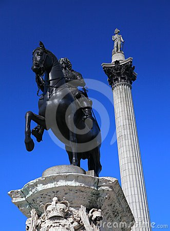 Nelson s Column in London s Trafalgar Square