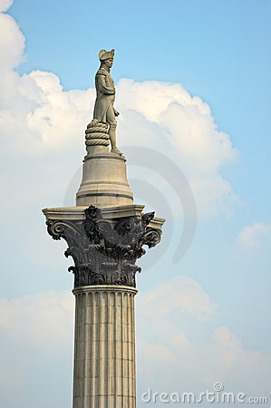 Nelsons Column Trafalgar Square London England UK