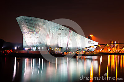 The Nemo Museum at night in Amsterdam Editorial Image