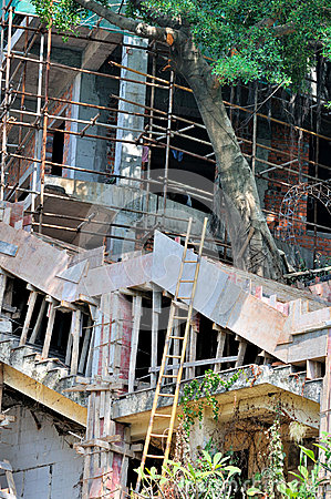 Nenhum funcionamento profissional da construção