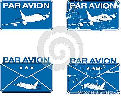 Nennwert Avion Stempel 03