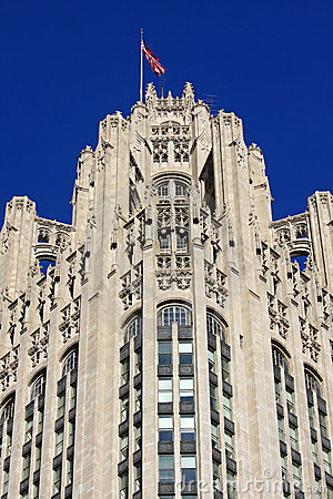 Free Neo-Gothic Architecture In Chicago Stock Photos - 8097393