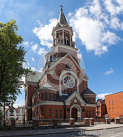 Neo-Romanesque-style church