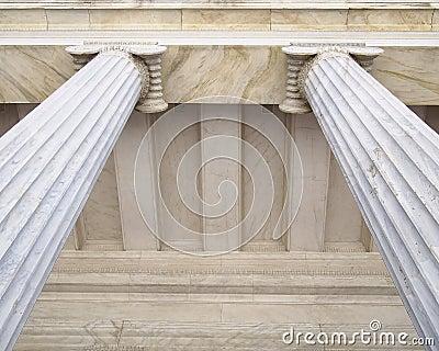 Neoclassical columns capitals