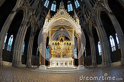 Neogothic altar