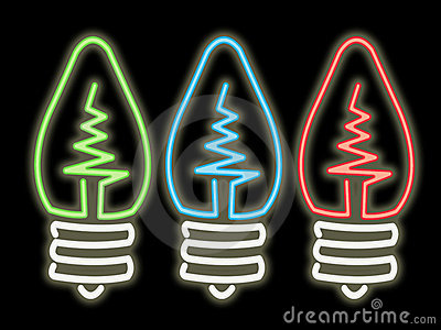 Neon światła żarówki