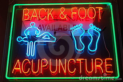 Neon Acupuncture Sign
