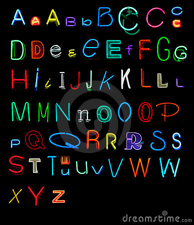 Free Neon Alphabet Royalty Free Stock Photography - 4494137