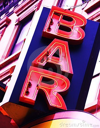 Free Neon Bar Sign Royalty Free Stock Photos - 8984928