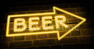 Neon Bierschild zeigt Direction bar oder Pub - 4k stock video footage