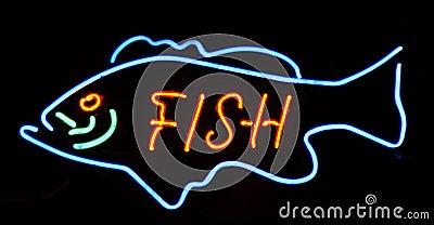 Neon big fish