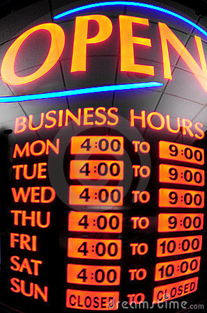 Neon Business Sign