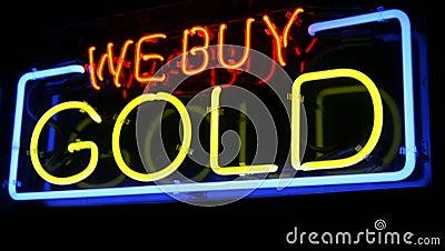 Neon WE BUY GOLD sign