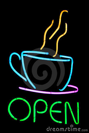 Neon Cafe Sign Royalty Free Stock Photos - Image: 205628