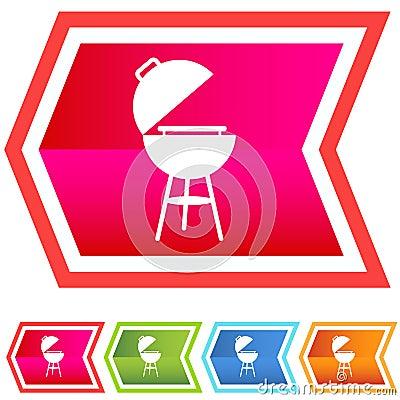 Neon Chevron Icon Set: BBQ