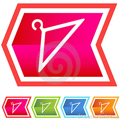 Neon Chevron Icon Set: Coat Hanger