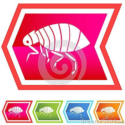 Neon Chevron Icon Set: Flea