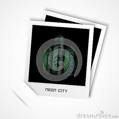 Neon city photo