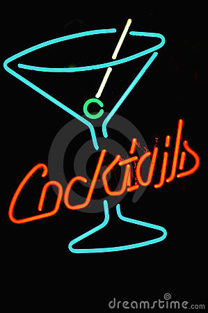 Free Neon Cocktail Sign Stock Photos - 2788093