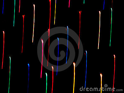 Neon Color Streaks