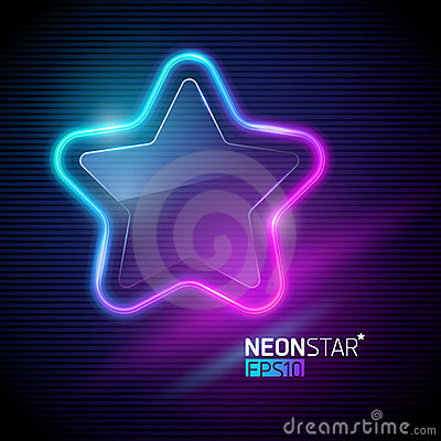 Free Neon Colorful Star Stock Photo - 20748200