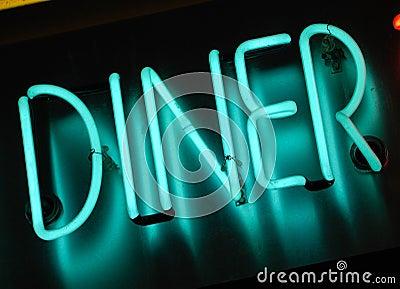 Neon diner sign