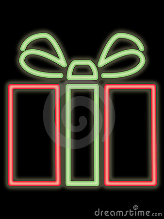 Neon gift package
