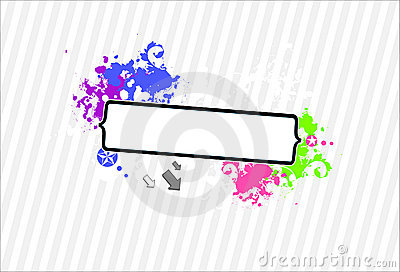 Neon grunge frame for your text-vector