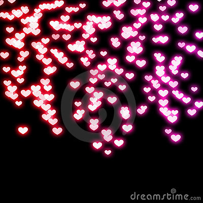 Free Neon Hearts Royalty Free Stock Photo - 16399655