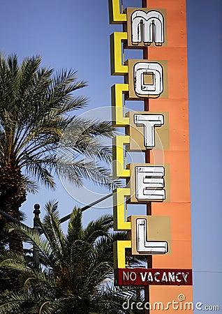 Neon Hotel/Casino Sign Editorial Stock Photo