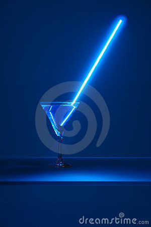 Free Neon Light In The Glass Stock Image - 1736051