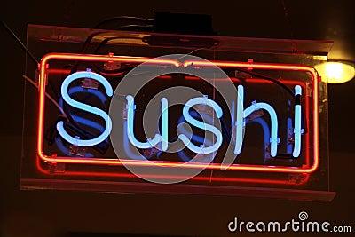 Neon Light - Sushi