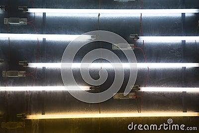 Neon light tubes