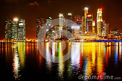 Neon lights of Singapore