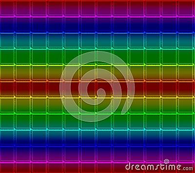 Neon Mosaic Tile Background
