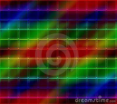 Neon Mosaic Tile Background