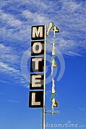 Neon Motel Diving Lady