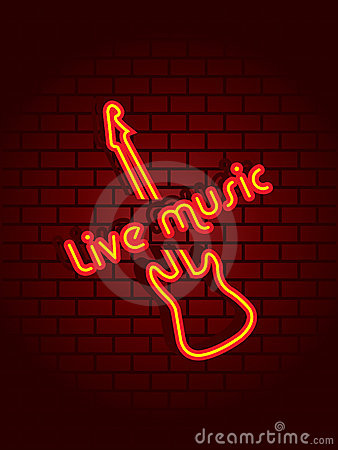 Free Neon Music Sign Royalty Free Stock Photos - 5565108