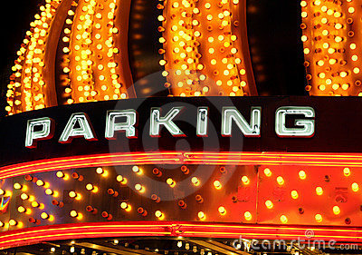 Neon parking sign Editorial Stock Image